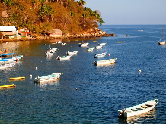 MiraMar Yelapa: Fishing boats in the bay