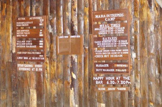 Mara Intrepids Luxury Tented Camp: Zugang zur Lobby