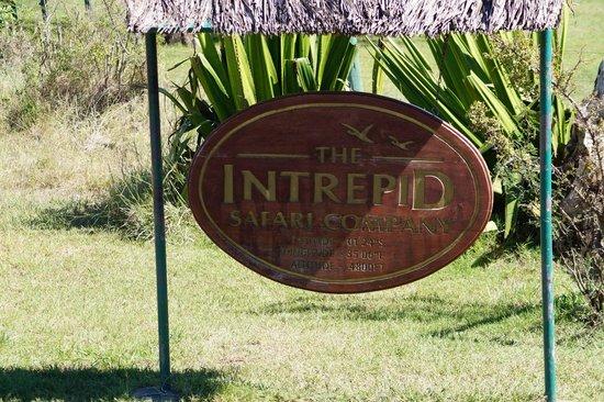 Mara Intrepids Luxury Tented Camp: Willkommensschild