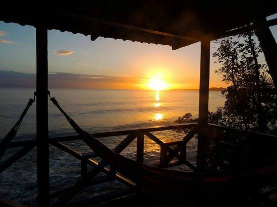 Tesoro Escondido: sunset from turtle cabina veranda