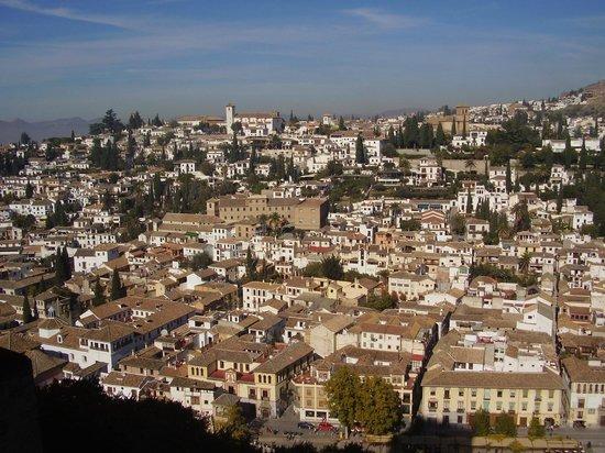 Albayzin: quartiere Albajcin visto dall'Alhambra