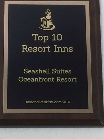 Seashell Suites Resort: Top Ten Resort Inns in America