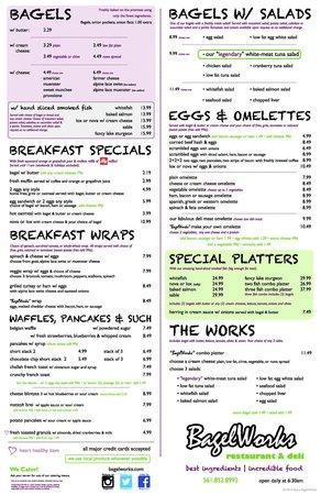 Bagelworks: new menu