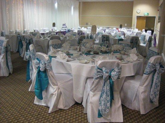 De Vere Horwood Estate: The reception room set up
