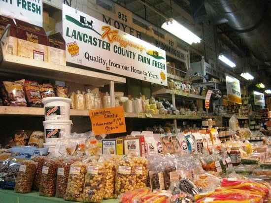 Reading Terminal Market: Amish produce - try the almond butter