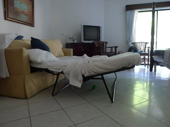 The Tropical at Lifestyle Holidays Vacation Resort : The sofa bed was not that great.
