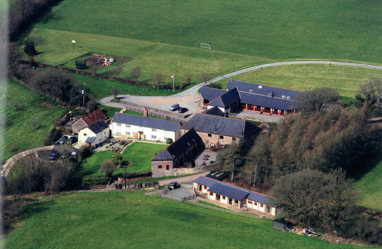 Newhouse Farm Cottages: aerial vew Newhouse Farm