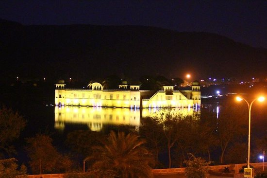 Trident,  Jaipur: Jal Mahal by night from the room window!
