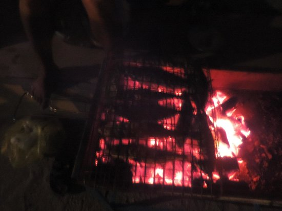 Rihana Guest House : barbecue de poisson