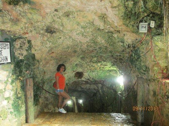 Cenote Ik kil: Ingresando al Cenote