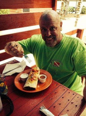 Pirate Grill: Hubby got a burrito!