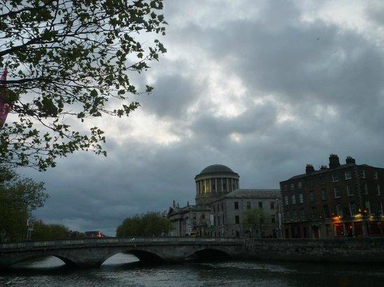 River Liffey: Cloudy Sky
