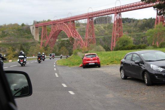 Garabit Viaduct: Vu de la départementale