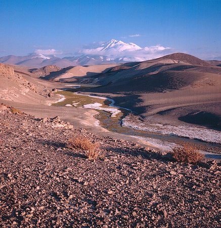 Volcan Llullaillaco: Fernblick von Nordwesten aus