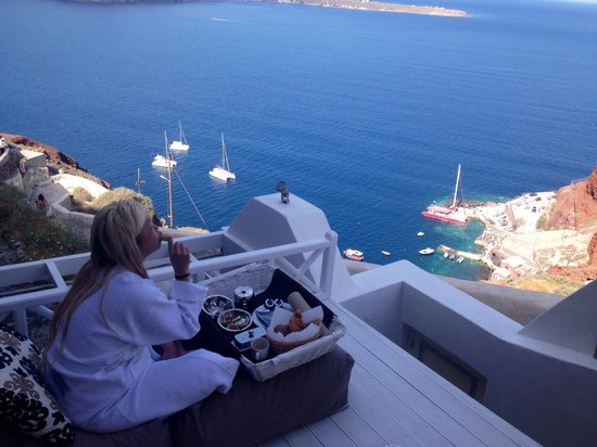 Art Maisons Luxury Santorini Hotels Aspaki & Oia Castle : Olympic villa private deck