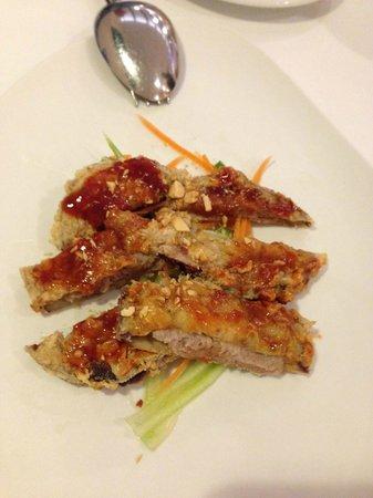 "Seu Xerea: Berenjenas rellenas de carne de cerdo con una salsa china ""Sichuan"""