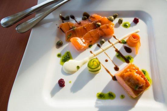 Roadford House Restaurant & Accommodation: Taste of organic salmon