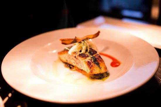 Roadford House Restaurant & Accommodation: organic salmon