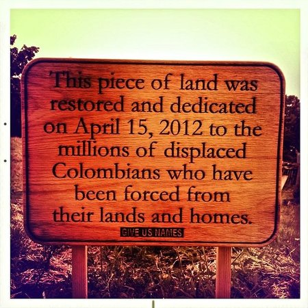 One of the sign for a plot in Wangari Garden