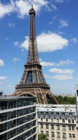 Pullman Paris Tour Eiffel: a View from Superior room window