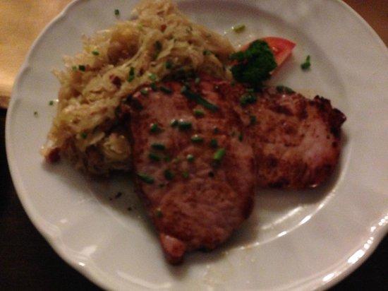 Severus Stube: Smoked pork with sauerkraut - yum!