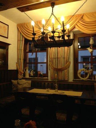 Severus Stube: Inside restaurant - table at window.