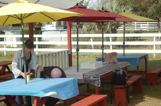 The birthday party area - Picture of Petting Zoo Ocala