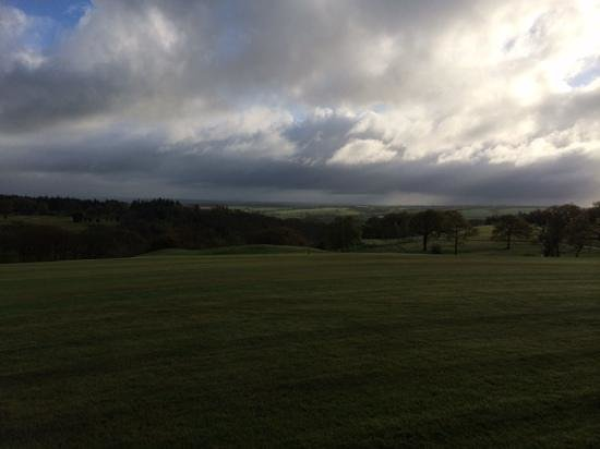 The Ashbury Hotel: view across the course early am