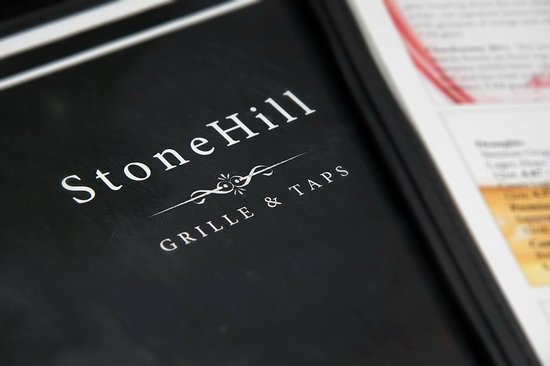 Stonehill Grille & Taps menu cover