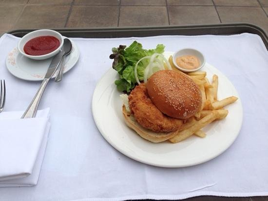 The Sukosol: Delicious spicy fish burger by the pool