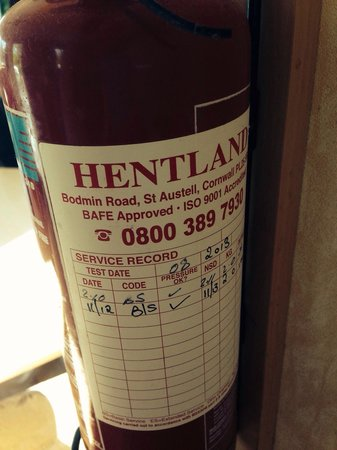 Beauport Holiday Park - Park Holidays UK: Out of date extinguisher