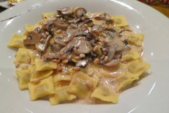 NH Nice: Mushroom ravioli