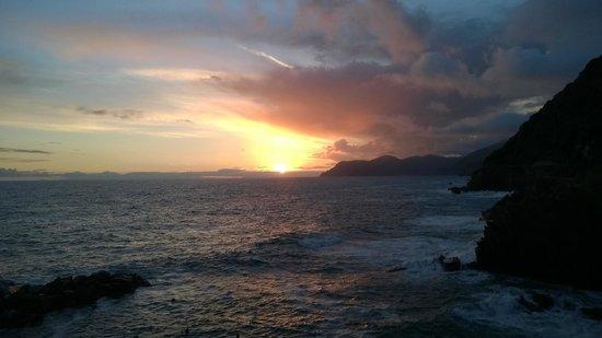 ViadeiBianchi: fantastisk solnedgång