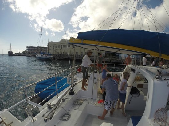 Barbados Sailing : Captain Ron, bringing us all back safe and sound... :D