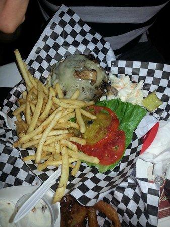 Daytona Brickyard: Mushroom and Swiss Burger