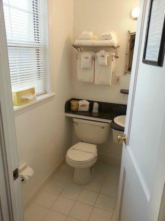 The Cozy Inn: Bathroom with window :)
