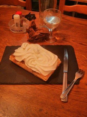 Le Chene Vert : Gaufre nutella chantilly