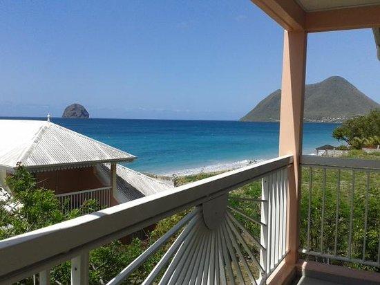 Diamant Beach: vue depuis balcon de la chambre