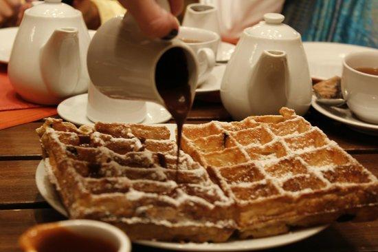 L'Auberge: Este é o de chocolate, mas não se deixe enganar: Vai no de doce de leite!
