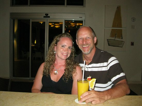 Secrets Silversands Riviera Cancun: having a drink with my wife