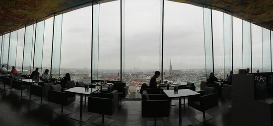 Sofitel Vienna Stephansdom: View at Breakfast on a rainy day.