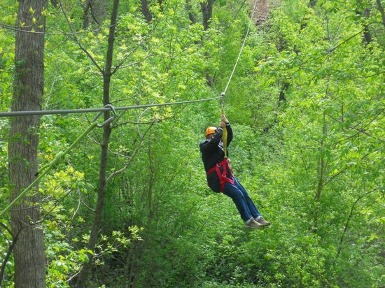 Sky Tours at YMCA Union Park Camp: Coming in for a landing!
