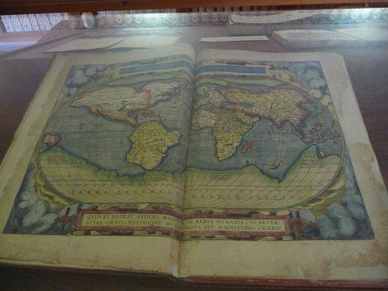 Museo de las Culturas de Oaxaca: Old map in the library