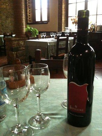 Osteria del Castello: Vinho boníssimo !