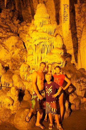Paros Butterfly Villas: Us in the caves in Anti Paros