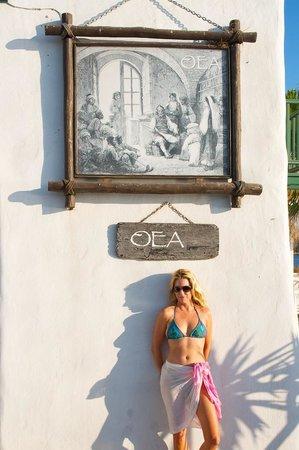 Paros Butterfly Villas: A restaurant near the ferry boat to Anti Paros