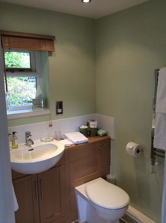 Teal Cottage : the en suite shower room - really clean and lovely decor