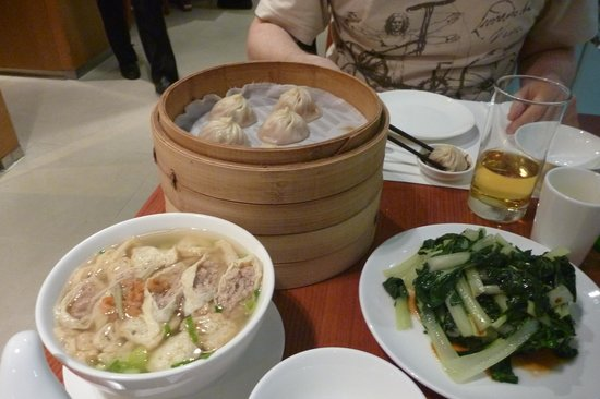 Din Tai Fung (Silvercord): дим-самы, суп и овощной салат