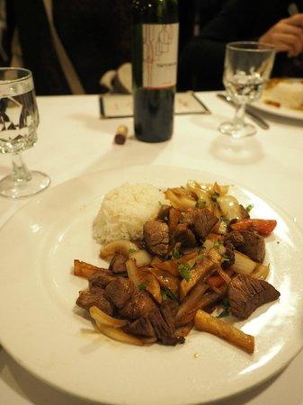 El Chalan Restaurant: Lomo saltado
