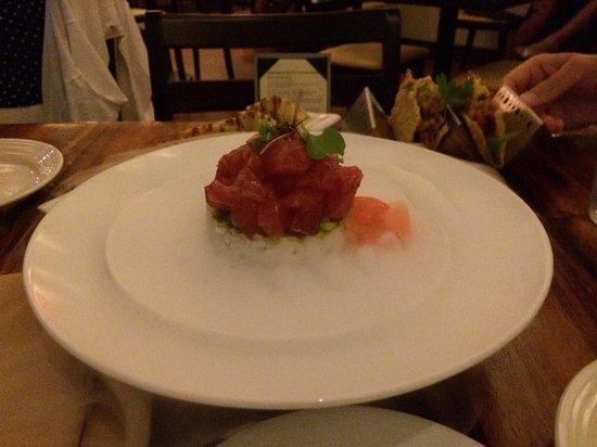 Josselin's Tapas Bar & Grill: Deconstructed ahi roll